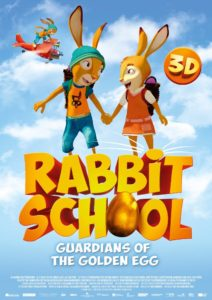 "Cartel de ""Rabbit School"""