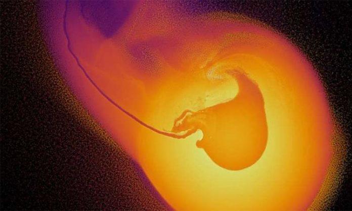 Simulación impacto Urano