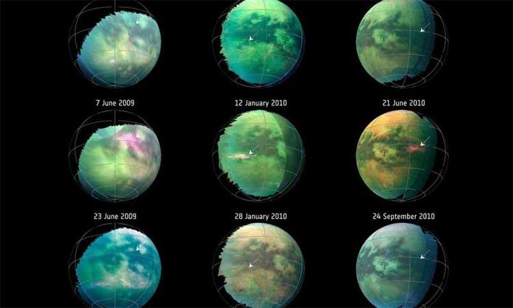 Sobrevuelos de Cassini en Titán