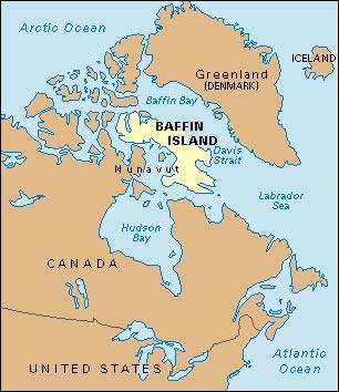 Localización de la isla de Baffin