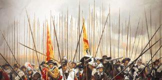 """Fragmento de la ilustración de cubierta de """"Acero y gloria"""", de Álvaro van den Brule Arandia"""