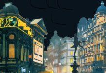 """Fragmento de la ilustración de cubierta de """"El asesino viven en el 21"""", de S. A. Steeman"""