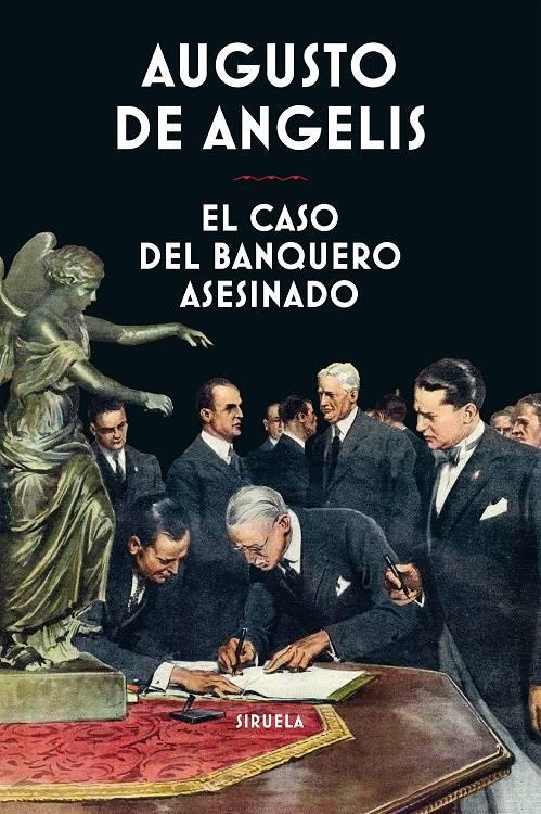 """Cubierta de """"El caso del banquero assinado"""" de Augusto de Angelis"""