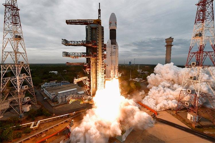 Despegue de la misión india Chandrayaan-2