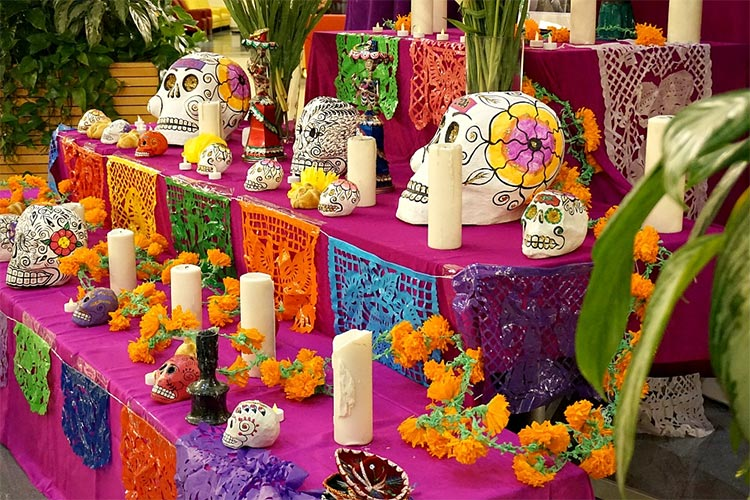 Altar de muertos en México