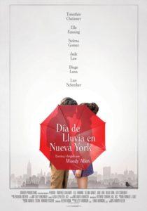 Póster de Día de lluvia en Nueva York, de Woody Allen
