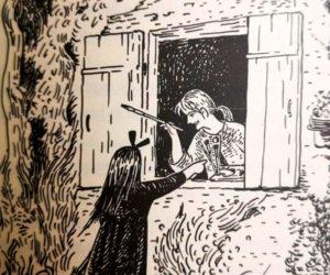 """Ilustración de """"Nicky, la aprendiz de bruja"""" por Akiko Hayashi."""