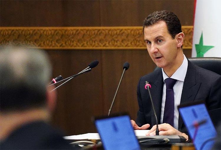 Bashar al-Assad, negando la existencia de Guerra civil de Siria