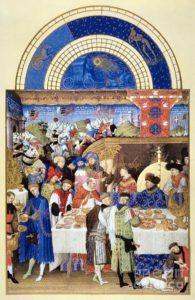 Fiesta medieval en Les Tres Riches Heures, de Duc de Berry