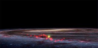 Recreación de la Ola Radcliffe de la Vía Láctea