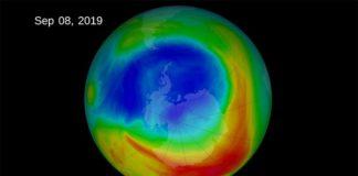 El agujero de la capa de ozono en 2019
