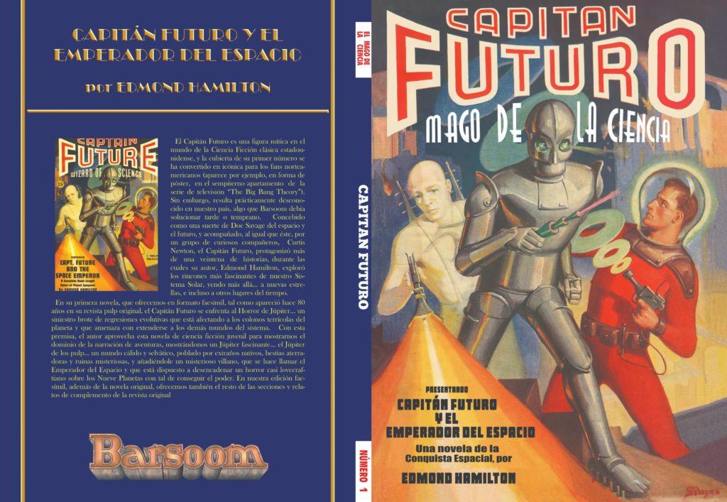 Portada de Capitán futuro y el emperador del espacio (facsímil nº1)