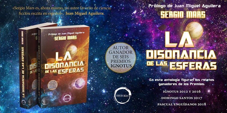 """Portada de """"La disonancia de las esferas"""", publicado por Editorial Tinturas"""
