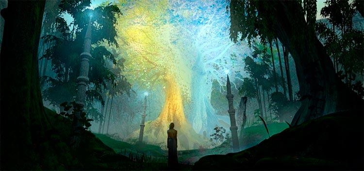 Los dos árboles de Valinor: Telperion y Laurelin