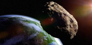 Recreación de asteroide cercano a la Tierra