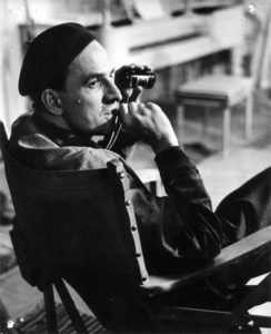 Ingmar Bergman, en pleno rodaje