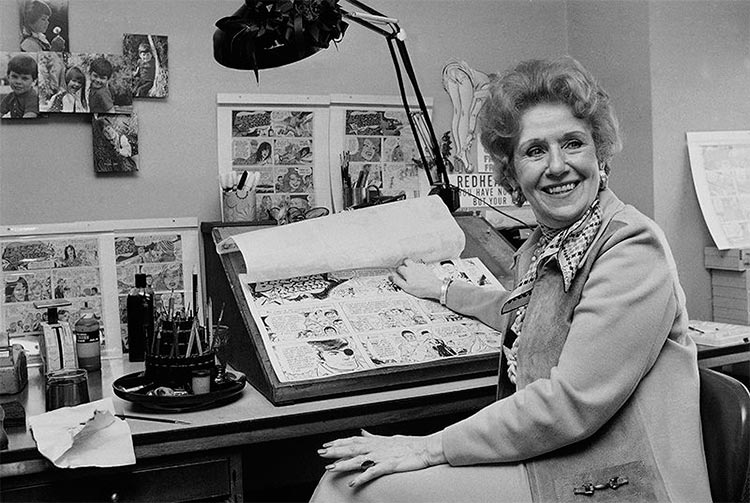 "Dale Messick, creadora de ""Brenda Starr"