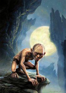 Gollum, el hobbit esclavizado por el Anillo Único