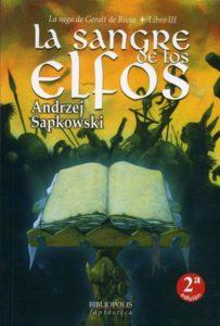 Portada de La Sangre de los Elfos (Geralt de Rivia III), de Andrzej Sapkowski