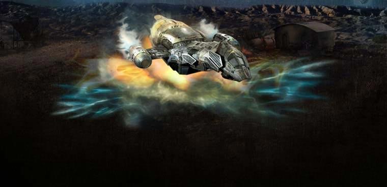Serenity - la nave espacial tipo Firefly