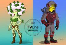 Cobie Smulders y Taran Killam en Los Simpsons