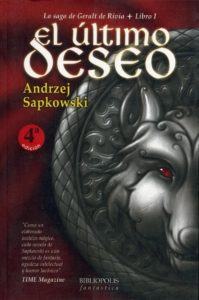 Portada de El último deseo (Geralt de Rivia I), de Andrzej Sapkowski