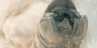 Detalle de un gusano de arena