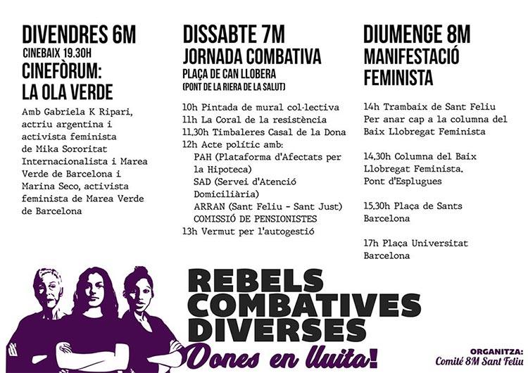 Lucha feminista en marzo en Sant Feliu de Llobregat