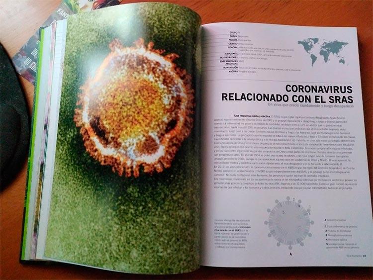 Ficha del coronavirus relacionado con el SRAS