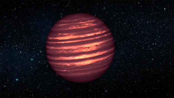 Representación de una enana marrón. Crédito: NASA/JPL-Caltech.