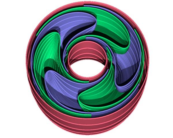 Modelo tridimensional de una foliación de Reeb