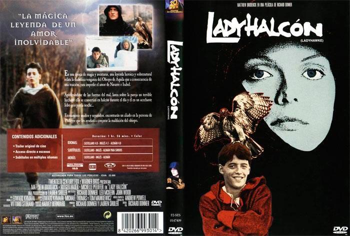 Lady Halcón - carátula del DVD