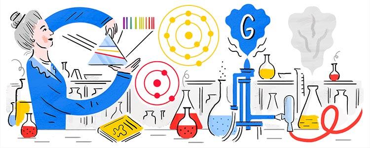 Doodle mujeres y ciencia