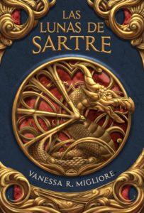 """Portada de """"Las lunas de Sartre"""" de Vanessa R. Migliore."""