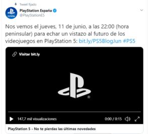 PS5 anuncio Twitter