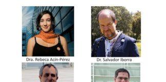 Los doctores Rebeca Acín-Pérez, José Antonio Enríquez, David Sancho y Salvador Iborra