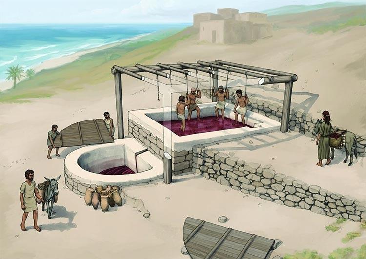 Reconstrucción arqueológica del lagar de vino de Tell el-Burak