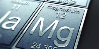 El elemento químico magnesio