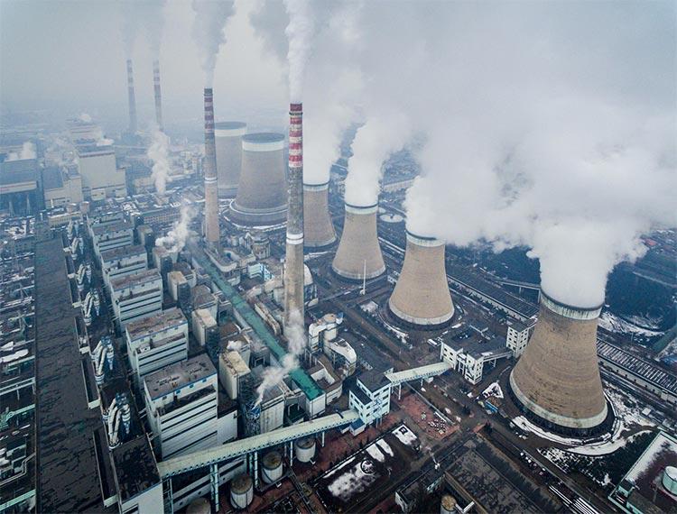 Una de las plantas de carbón chinas