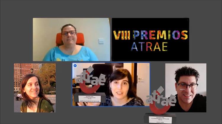 Ganadores de la VIII edición virtual de los premios ATRAE