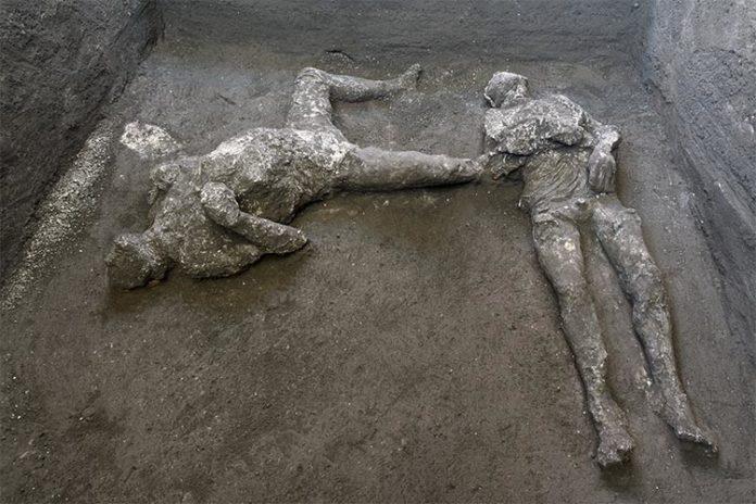 Restos arqueológicos en Pompeya