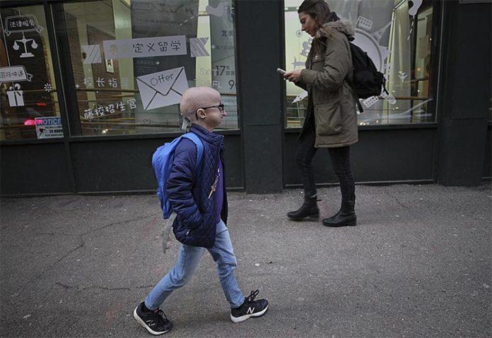 Meghan Waldron, estudiante con progeria