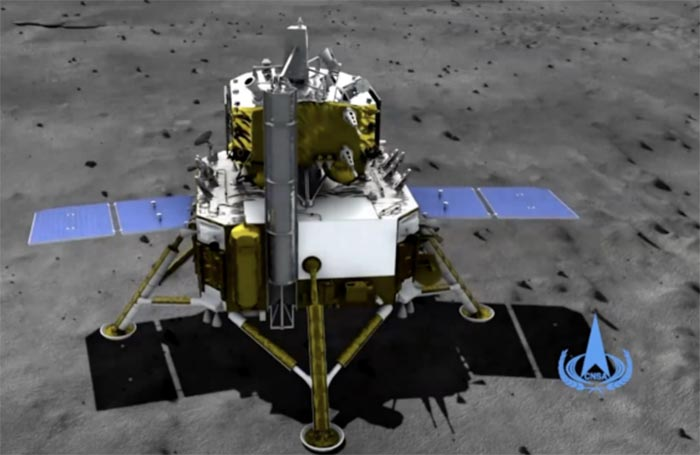 Sonda lunar Chang'e-5 de China, cuya misión consiste principalmente en recolectar muestras lunares