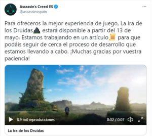 Comunicado oficial de Ubisoft