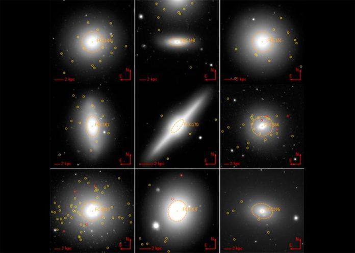 Galaxias enanas ultracompactas y galaxias compactas alrededor de las galaxias más brillantes del Cúmulo de Fornax