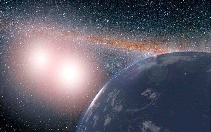 Planeta en un sistema de estrellas dobles con zona habitable