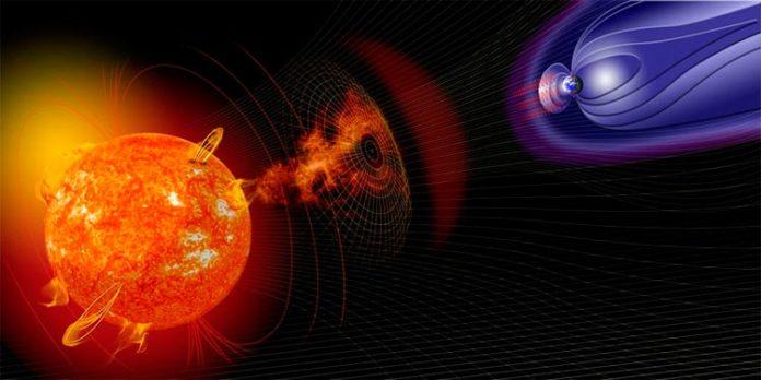 Tormentas solares y el escudo electromagnético de la Tierra