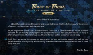 Prince of persia remake retraso 2022