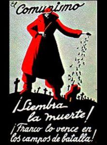 Guerra Civil Española: cartel contra el comunismo y a favor de Franco