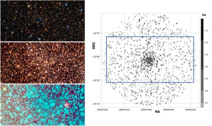 Gráficos para el cúmulo globular VVV-CL160 en diferentes longitudes de onda